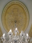Ornate Ceiling Fixture painted with French Wash, Picking out, Shading & Highlighting