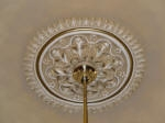 Shaded Ceiling Rose with Gold Highlighting