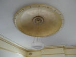 Ceiling Dome painted with French Wash, Shading & Highlighting, Gold Detailing