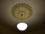 Gold Highlights on Shaded Ceiling Rose
