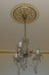 Shaded Ceiling Rose with Antique Gold