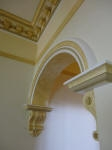 Different Paint Techniques to Archway & Hallway Cornice