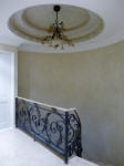 Soft Four Tone French Wash to Walls. Painted Dome, Handrail & Ironwork