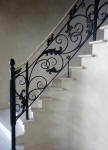 Four Tone French Wash to Walls, Faux Marble Hand Rail, Painted Wrought Iron