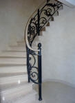 Walls Painted in a Soft Four Tone French Wash, Painted Balustrade