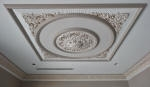 Decorative Painting in Delicate Tones to Ornate Ceiling & Cornice
