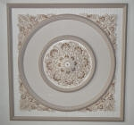 Decorative Painting to Ceiling Feature with Intricate Gold Highlights