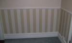Hand Painted Stripes on Wall