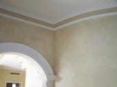 Colourwash to Walls, Picked out Cornice