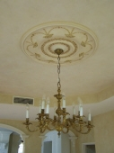 Colourwash to Ceiling, Colourwash & Gold Leaf to Ceiling Rose