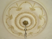 Colourwash to Ceiling & Rose, Picking out in Gold Leaf