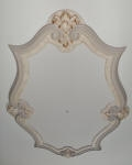 Soft Painted Finish& Gold Highlights to Ceiling Rose