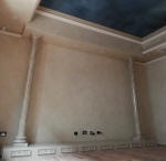 Four Tone French Wash to Walls & Bulkheads, Painted Night Sky, Faux Marble Columns & Panels
