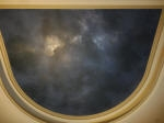 Night Sky Painted on Theatre Room Ceiling
