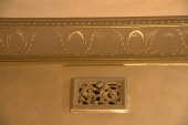 Gold Leaf & Crackle Finish & highlighting of cornice pattern with gold